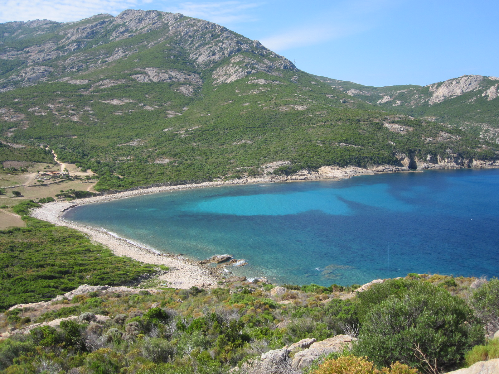 On our way to Ile Rousse. Clear bay views like this make it hard to carry on and not stop right HERE for the day!